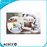 2 Way Single Handle Hot Cold Water Pull Out Kitchen Faucet