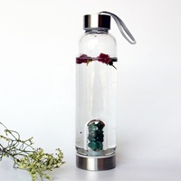 Crystal Energy Quartz Crystal Infused Elixir Gemstone Water Bottle