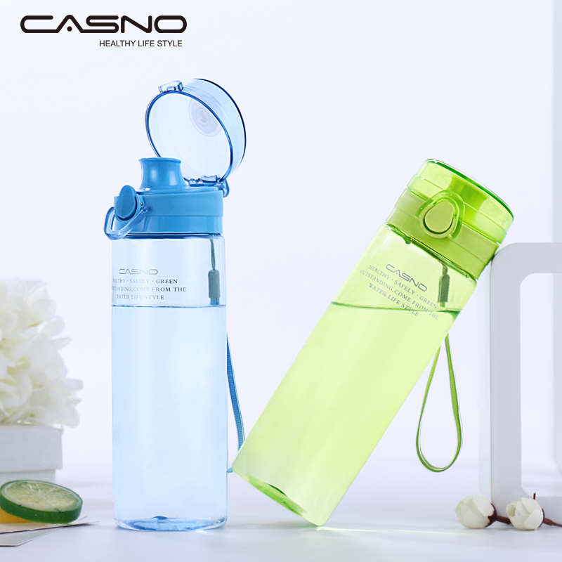 New style hot sell portable clear sports drinking water bottle with press-button lid