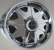 18*8.0 inch 6*114.3 offset 25 Chrome alloy wheel