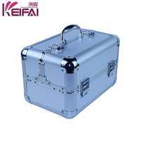 Large Aluminium Silver Beauty Cosmetic Case Bag For Gift