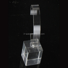 manufacturer transparent counter acrylic watch display wit C clip