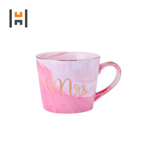 380ML Lovely Mr and Mrs Marble Couple Creative Mug Set for Valentine Day Promotion
