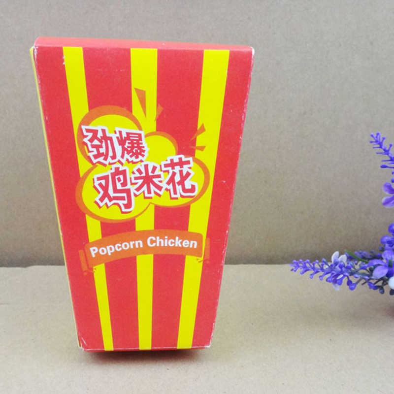 Disposable food packaging container for chicken popcorn paper boxes take away