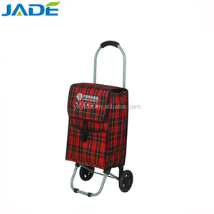 Wholesale small capacity shopping carts with 2 wheels,insulated shopping cart bag for promotion
