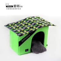 Multi-color canvas dog pet house warm pet mat factory directly supply