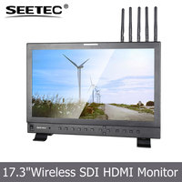 "High resolution anti drop shipping 1920*1080 HDMI 1080P wireless hd transmitte with 17"" SDI monitor"