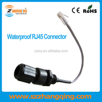 RJ45 Interface M25 Ethernet LAN Nylon AP Panel Mount Waterproof Connector IP68 Adapter Wire Cable