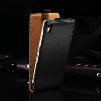 Factory price high quality good taste genuine leather flip case for sony xperia z2