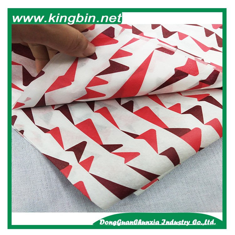 17gsm types of wrapping custom printed durable tissue paper