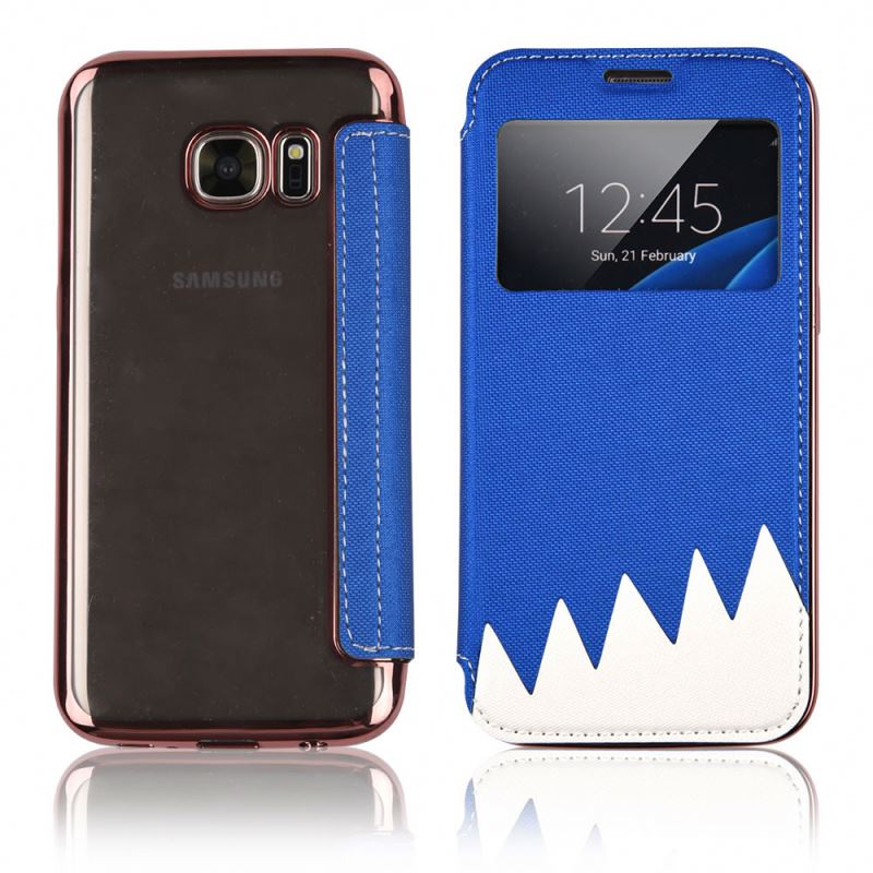 new products leather phone case for samsung galaxy s6 g9250 clone lcd