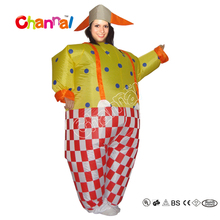 Cheap Wholesale Funny Fat Inflatable Circus Clown Costume For Adult And Women