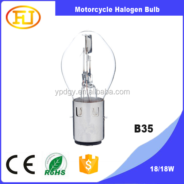 12V35/35W BA20D B35 halogen bulb for motorcycle headlight