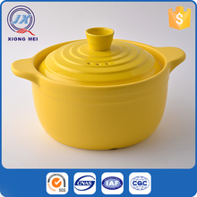 Newest design food grade colored stoneware cooking sets