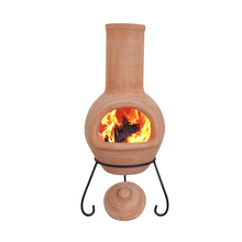 terracotta chimney fireplace for garden keeping warm