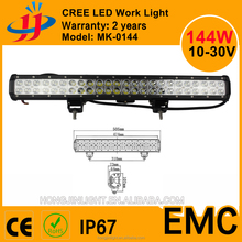 144W LED 12V IP67 Flood Spot Combo Beam offroad work light bar