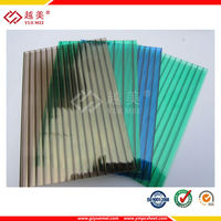 coloring polycarbonate hollow sheet plastic gazebo roof material