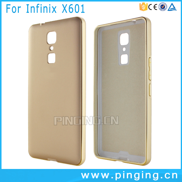 Luxury Hard Metal Frame + PC Back Case For infinix Note 3 X601