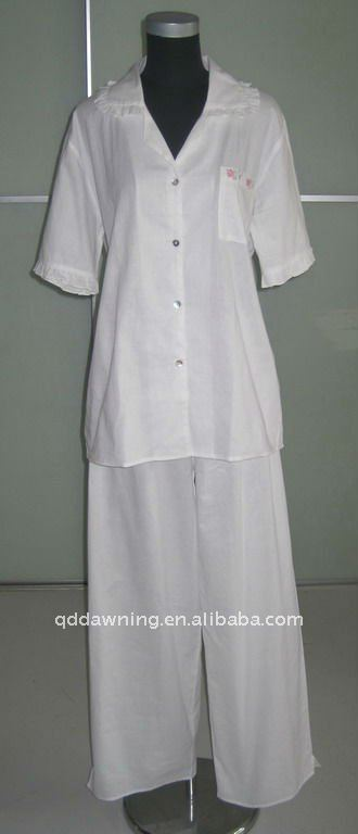 embroidery cotton pajamas