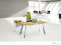 Stainless Steel Leg Office Manager Table, Small Executive Desk