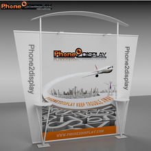 3 x 3 m trade show aluminium profile exhibition booth