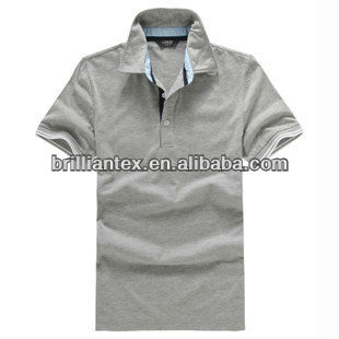 cool functional sports men grey quick dry polo shirt
