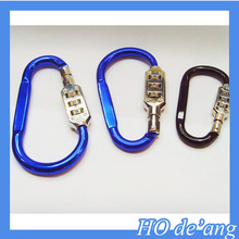 Hogift 2016 New Carabiner/Bike Combination Ring Locks Digital Lock