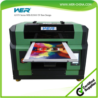 Cheap A3 329*600mm,WER-E2000UV flatbed inkjet printer, iphone case printer