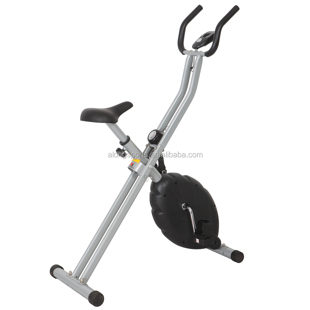 Household Foldable Magnetic Exercise X Bike Adjustable Foot Straps Magnetic Upright Bike MB250AA