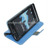 Best selling Top quality wallet flip leather case for sony xperia s lt26i