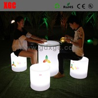 led lighting chairs furniture/ lighted round sofa ottoman, hotel reception furniture