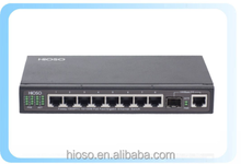 industrial Managed 8 ports 1000M PoE switch power over ethernet Pure-gigabit PoE switch