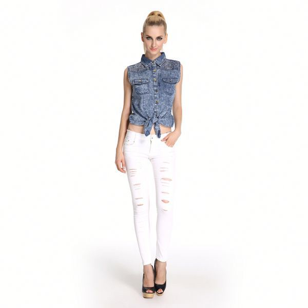 Low Price High Quality Embellished Istanbul Jeans Manufacturer