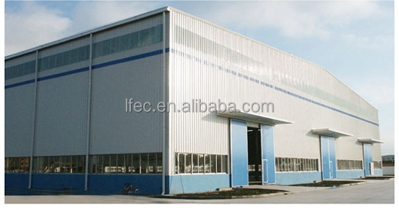 Hot dip galvanized steel industrial shed drawing