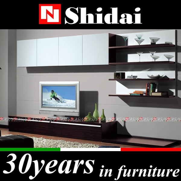 E-41 lcd tv wall unit designs / design led tv unit / high gloss tv unit