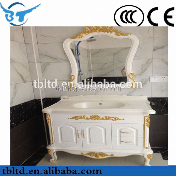 stylish 2015 mdf with pvc foiles high cabinet/bathroom vanity