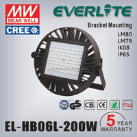 5 years warranty outdoor led high bay light 200w with TUV approved