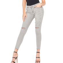 Sexy Skinny Jeggings Women Ripped Jeans