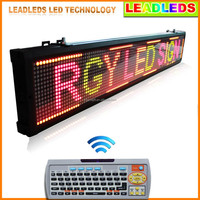 2016 Alibaba Wholesale Dot Matrix Running Text Multi Color LED Message Board with Keyboard