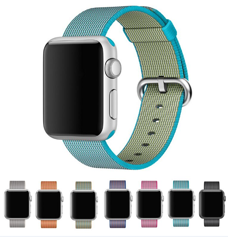 best selling Sports Royal Woven Nylon Bracelet Band Strap For Apple Watch 38mm/42mm