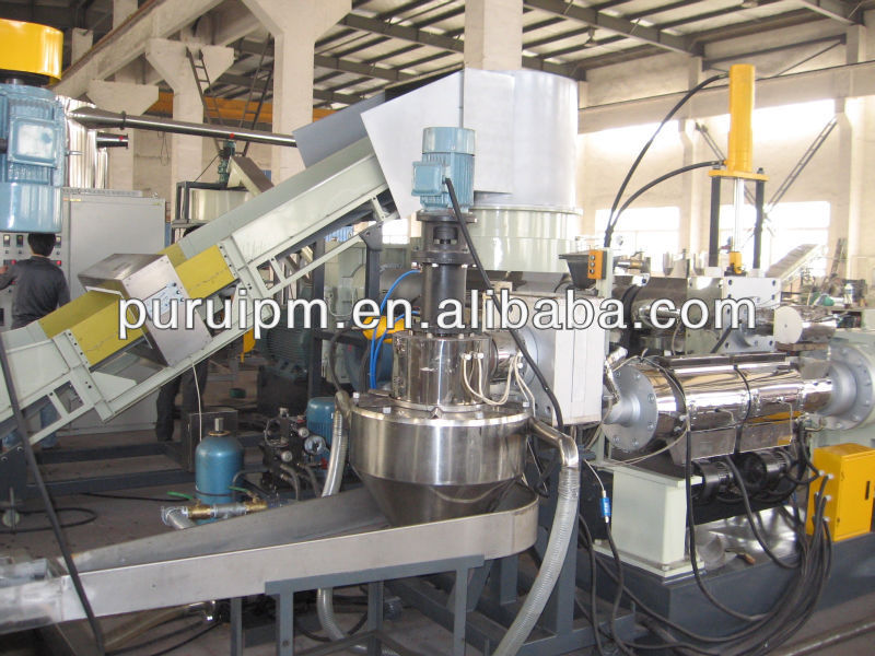 PP/PE recycling granulator pelletizing extrusion