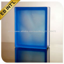 colored glass brick/ decorative glass block for curtain wall / lightweighe building material