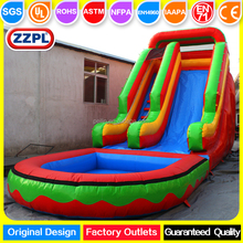 ZZPL cheap giant inflatable water slides with pool for adult and kids