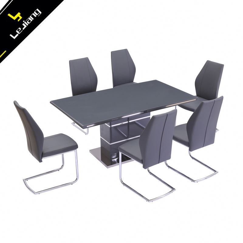 Luxury 6 seat home dining table and chair sets dining tables