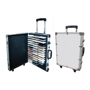 Hand Carry Stone Samples Display Suitcase Aluminum Sample Case