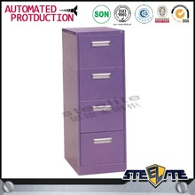 China manufacturer fire proof purple file cabinet 4 drawer file cabinet