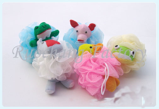 Promotional Animal Shower Puff, Puff Ball Animals Shape