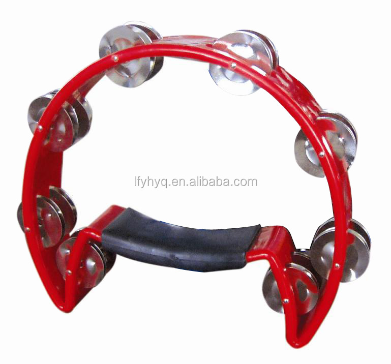 China Radiant pruise dance tambourine 10'' single row tambourine for kids
