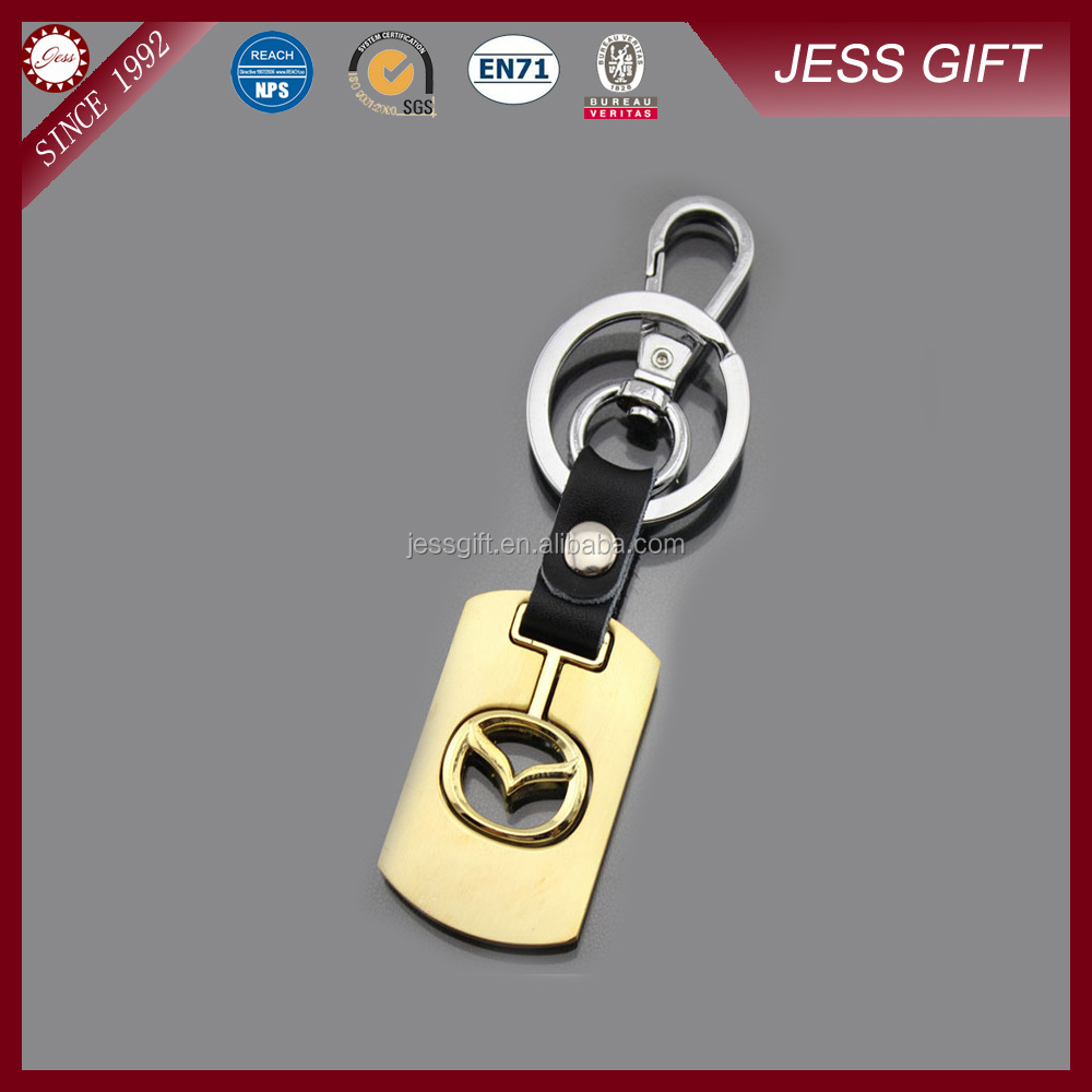 2015 Hot Selling Custom PVC Leather Keychain Printed Keychain