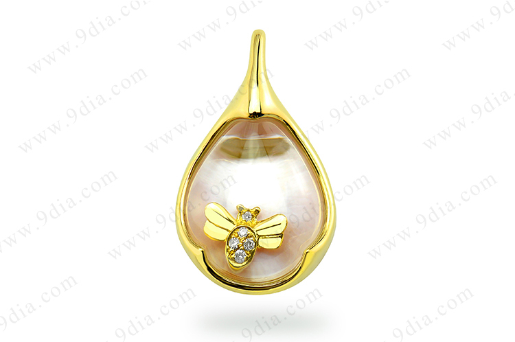 2019 Guangzhou Fashionable Stone Jewellery 18K Gold Necklace Real Gemstone Jewelry